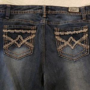 Earl Jeans Dark Blue Wash Boot Cut Sz 12